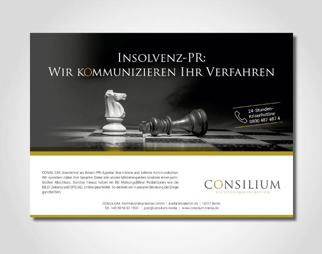 Anzeigengestaltung für eine PR-Agentur