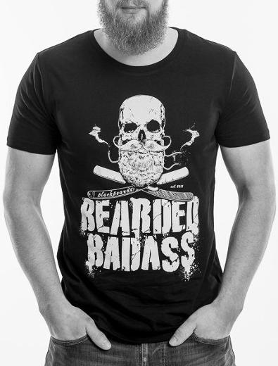Bekleidungs-Design für Bearded Badass - Bekleidungs-Design-Beispiel