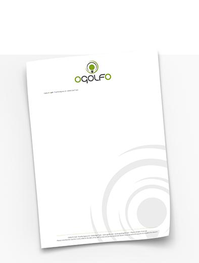 Briefpapier-Design für Golf-Anbieter - Briefpapier-Design Beispiel
