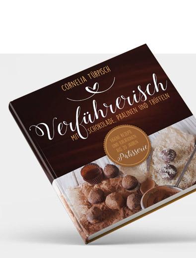 Buchcover-Design für Schokoladenbuch - Buchcover-Design Beispiel