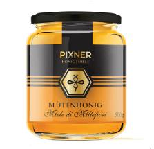 Etiketten-Design für Honiggläser einer Imkerei