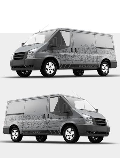 Professionelle Fahrzeugbeschriftung für kleines Budget