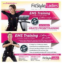 Gutschein-Design für ein Damen-Fitness-Studio
