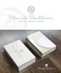 Logo- und Visitenkarten-Design für ein Coaching