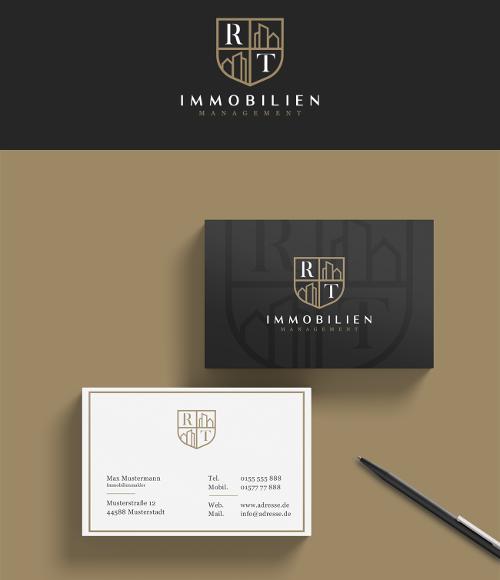Professionelles Logo- & Visitenkarten-Design für ein Immobilienunternehmen
