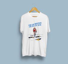 T-Shirt-Design für eine Anti-Doping-Kampagne