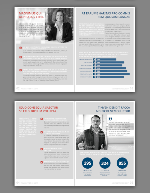 Ansprechendes Newsletter-Design für Akquise Sales