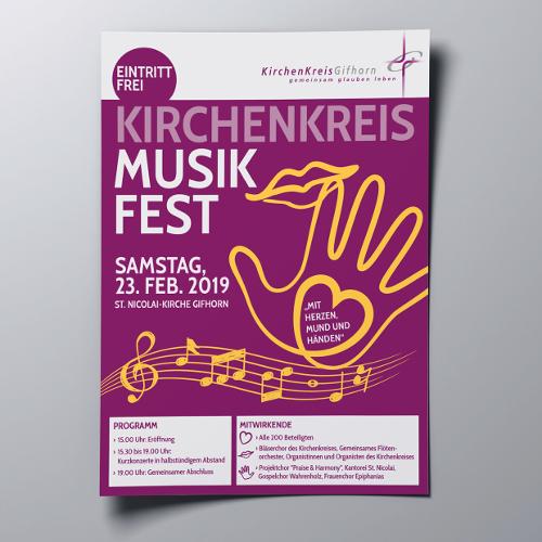 Für das Kirchenkreismusikfest wird ein Plakat gesucht