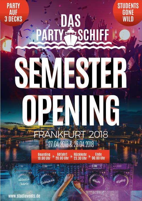 Partyschiff sucht Plakat-Design für Semester Opening