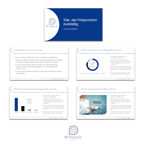 Präsentationsvorlagen für 3P Professionals