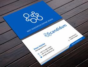 Visitenkarten-Design für ein Biotechnologieunternehmen