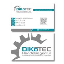 DiKoTEC-Handelsagentur sucht Visitenkarten
