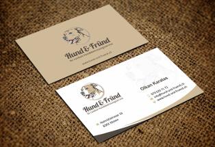 Visitenkarten-Design für Hundebetreuungsservice