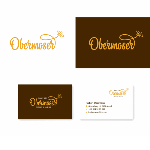 Hochqualitatives  Visitenkarten-Design für Imker