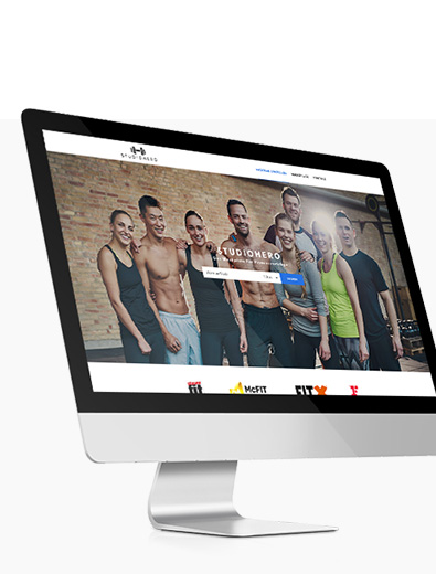 Webdesign für Fitness-Studio - Web-Design Beispiel