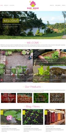 Webdesign für eine Eco-Farm in Laos